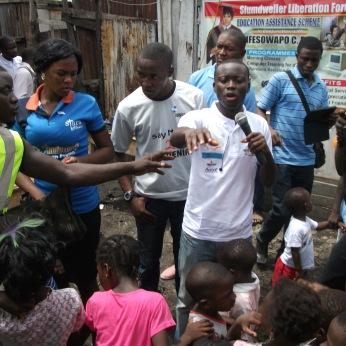 Alex at Care Trust Slum Visit in Lagos, Nigeria
