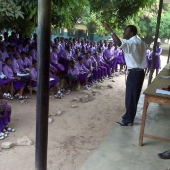 Alex at Lafenwa High School, Nigeria