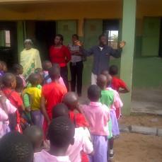 Alex Speaking to FHA,Lugbe, School Pupils in Nigeria